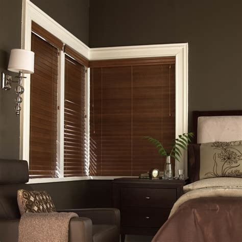 Bedroom Blinds Blinds 2 Quot Deluxe Wood Blinds Contemporary Bedroom