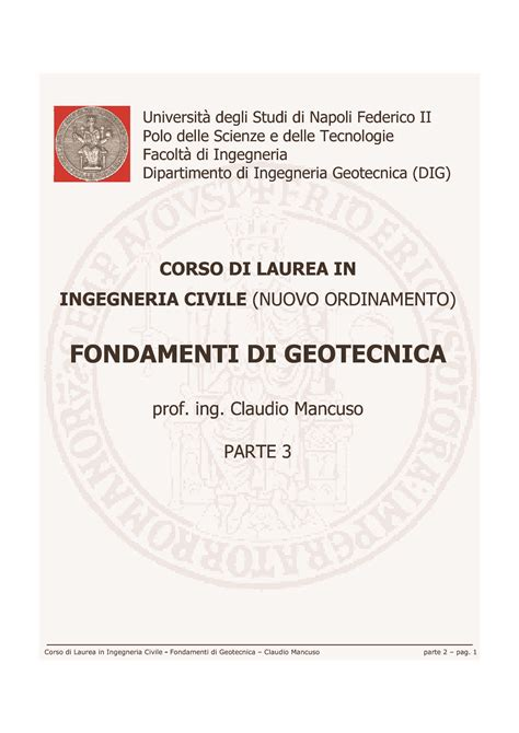geotecnica dispense terreni classificazione e analisi dispense