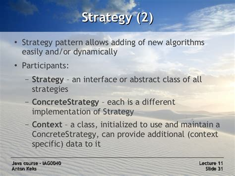 pattern of behaviour synonym java course 11 design patterns