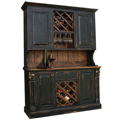 Breathtaking Hutch With Wine Rack