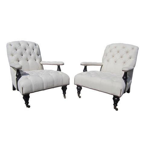 George Smith Furniture by George Smith Edwardian Armchairs From Aileen Getty Collection At 1stdibs