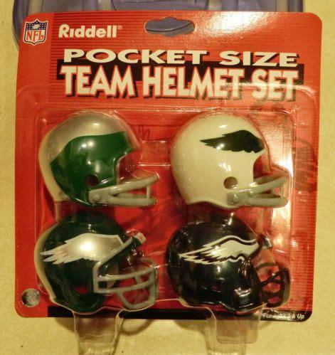 Helm Retro Chips riddell philadelphia eagles team helmet set pocket pro throwback ebay completely