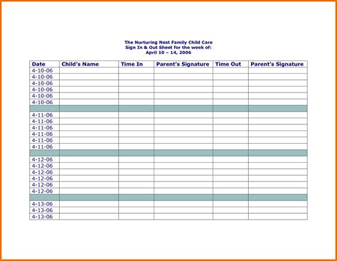 sign in sheet template printable sign in sheet visitor class and