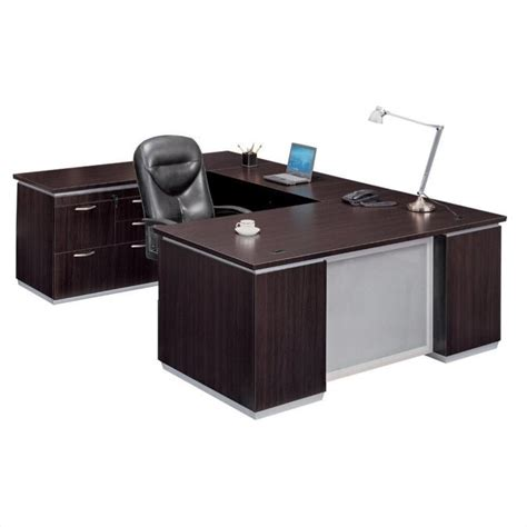 flat computer desk flexsteel pimlico u shape left wood computer desk set