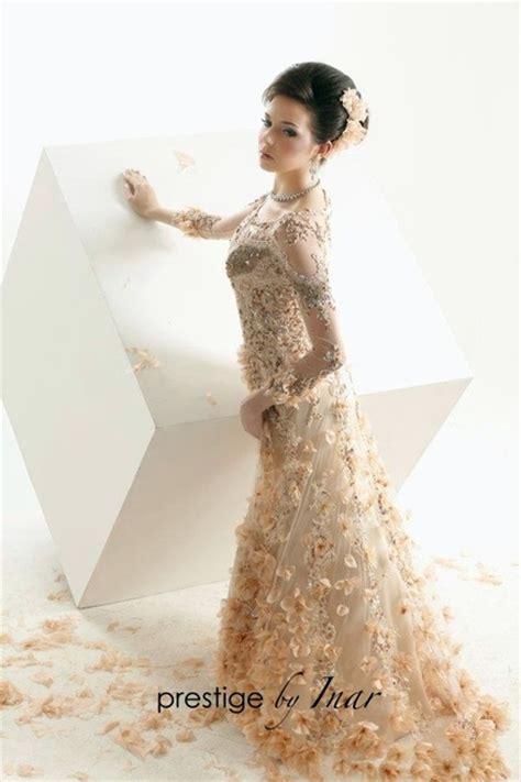 kebaya sederhana kebaya pengantin modern gold by inar 2 wedding
