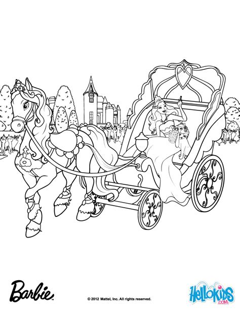 Galerry barbie horse coloring page