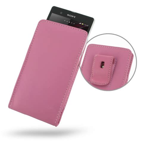 Pink Pouch sony xperia z pouch with belt clip petal pink pdair wallet
