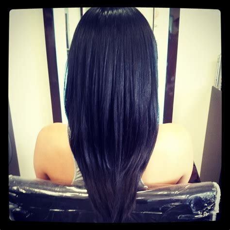 cut hair at home curve shape how to v shaped haircut for girls at home step by step