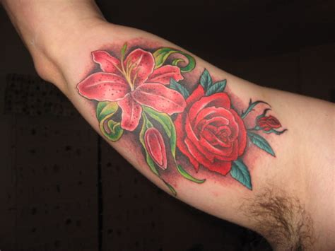 rose and lily tattoos my and picture