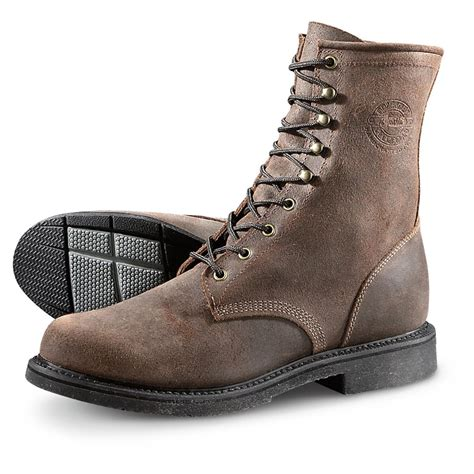 mens justin work boots justin s mountain lace up work boots 640710