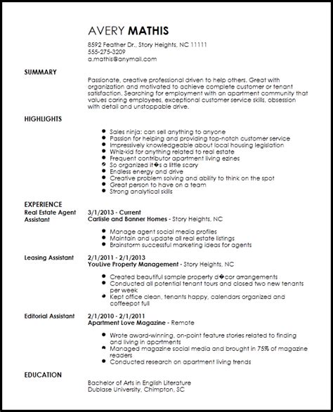 adorable sample leasing consultant resume with leasing agent job