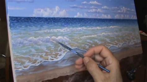 pintar la playa tropicale video rapido acrilicos tela