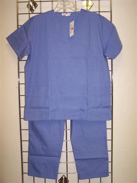 Ceil Blue Uniforms by S Ceil Blue Unisex V Neck Scrub Set