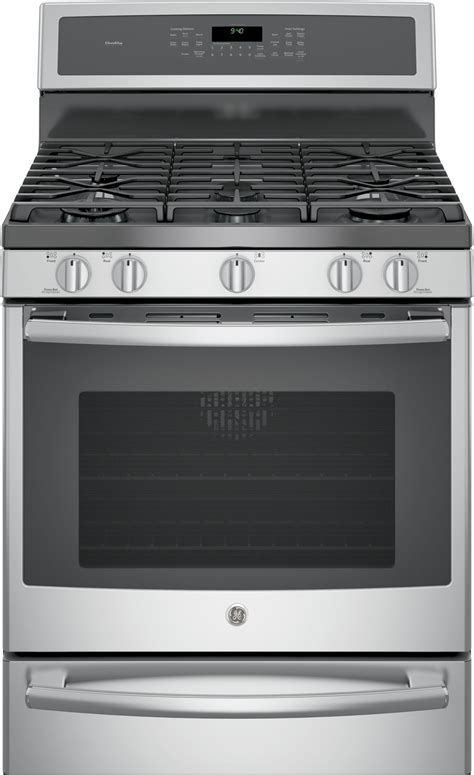 gas wall oven with warming drawer pgb940sejss ge profile 30 quot free standing gas