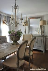 dear lillie our updated dining room with a new farmhouse table and rolling shelves
