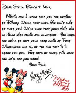 disney letter template we heard you re coming to disney world a letter from