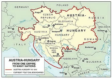 austro hungarian empire map collapse of the austro hungarian empire after the great