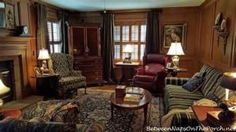 Ballard Designs Drapes velvet drapes for a paneled english country style living room