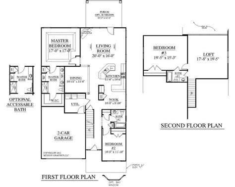 traditional open floor plans house plan 2545 englewood floor plan traditional 1 1 2 story house plan with 3 bedrooms and 3