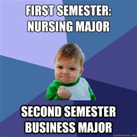 Business Kid Meme - first semester nursing major second semester business