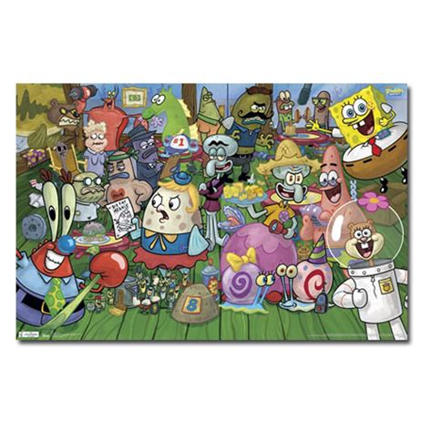 Home Decor Trends Com by Spongebob Characters Wall Poster