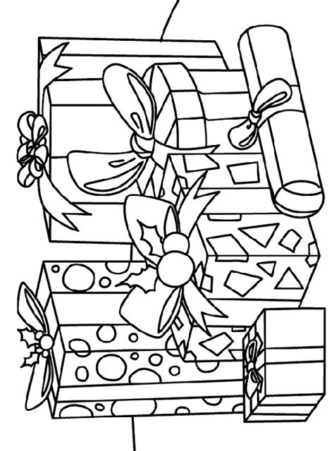 coloring page of christmas presents a gift of giving coloring page crayola com