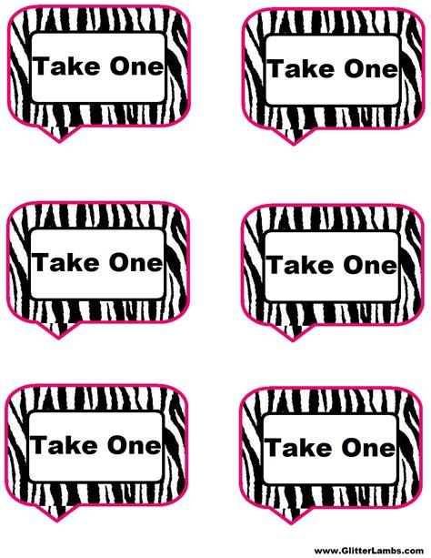 free printable zebra address labels free pink zebra birthday party food cards printables