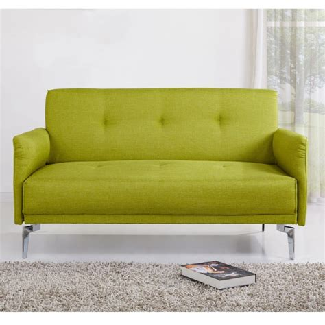 colby 2 seater modern fabric sofa in lime green furniture123