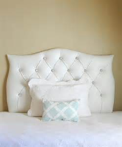 tufted upholstered custom headboard white faux leather
