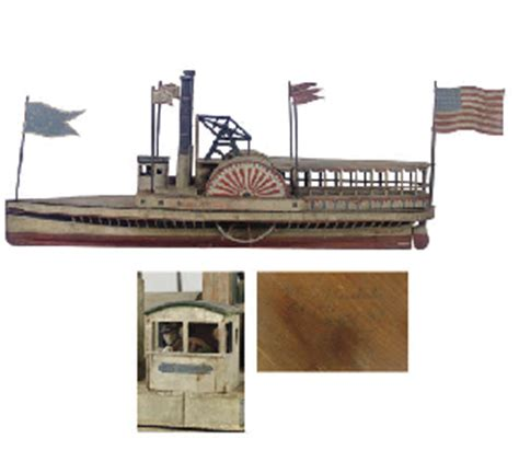 boat paint manchester a carved and painted steamboat weathervane made by