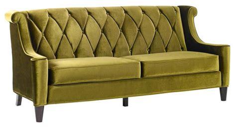 Barrister Velvet Sofa by Barrister Green Velvet Sofa Sofas By Ls