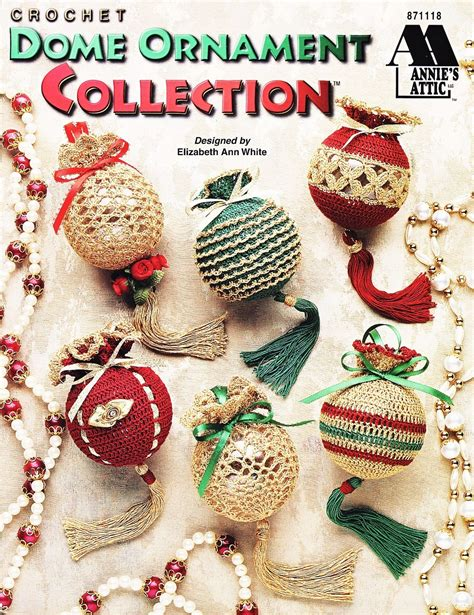 dome ornament collection crochet patterns book christmas