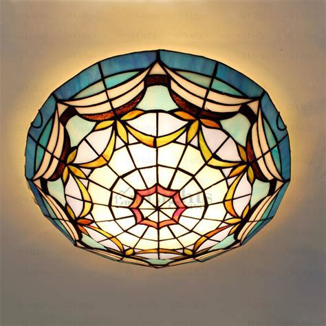 Mediterranean Ceiling Light Cover Stained Glass Ceiling Lights Stained Glass
