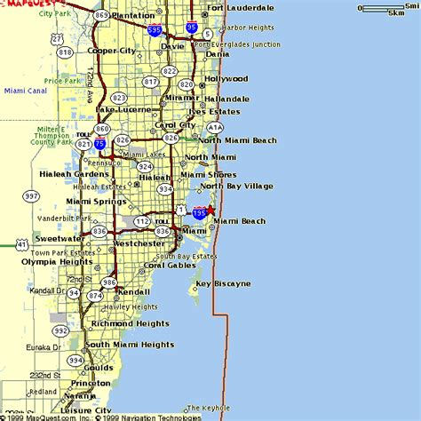 Miami Dade Civil Search Regional Map