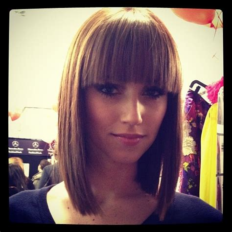 how to cut fringe bangs in bob medium bob blunt bangs hair for sienna pinterest