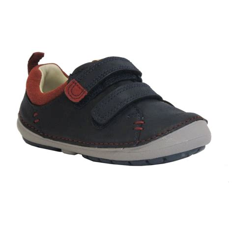 clarks boys shoe softly toby fst navy leather