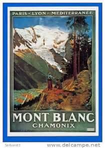 carte postale reproduction affiche sncf chemins de fer de