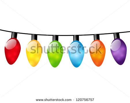 white color light bulbs color light bulbs on white stock vector