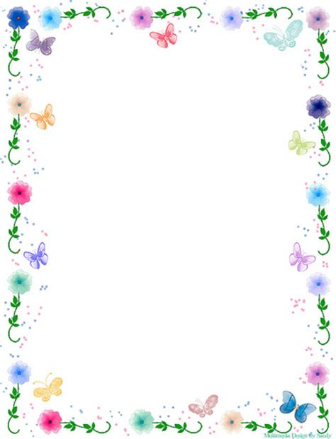 butterfly border template floral butterfly border stationery a photo on flickriver