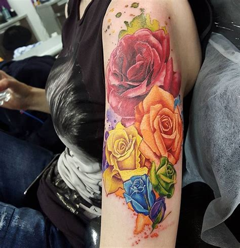 rainbow rose tattoo 296 best tattoos i like images on ideas