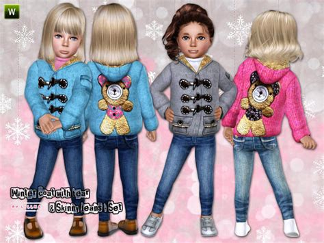 child sims 3 jeans empire sims 3 girls winter coat with skinny jeans boys