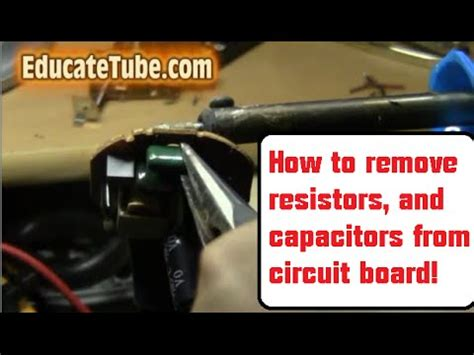 how to solder a resistor to a circuit board soldering iron ideal for circuit board capacitors diodes transistors fuses and