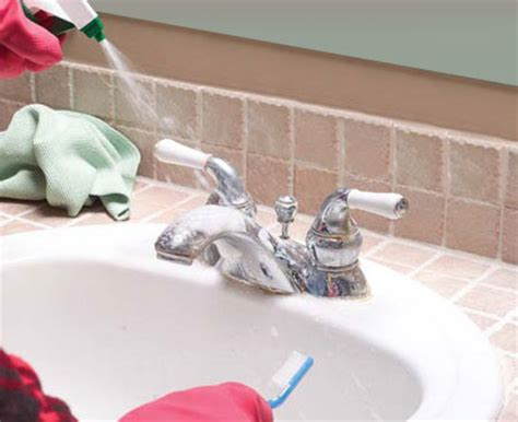 how to clean calcium build up of faucets