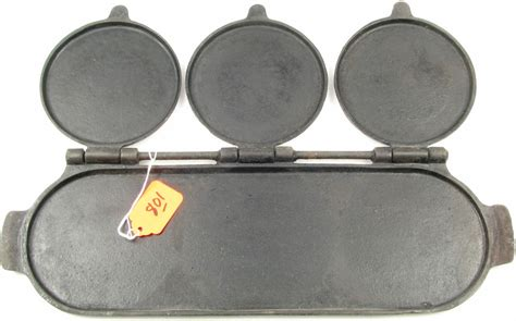 pan section pan erie flop griddle 3 section cast iron no 8