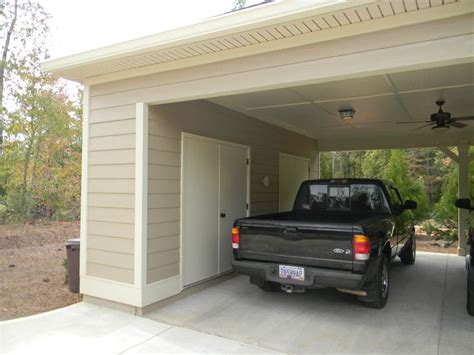 Carport Plans With Storage by Carport Storage Upgrade Outdoor Landscaping Ideas