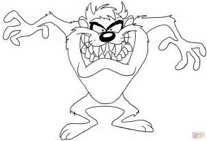 Tazmanian Devil Free Colouring Pages Tasmanian Looney Tunes Coloring Page
