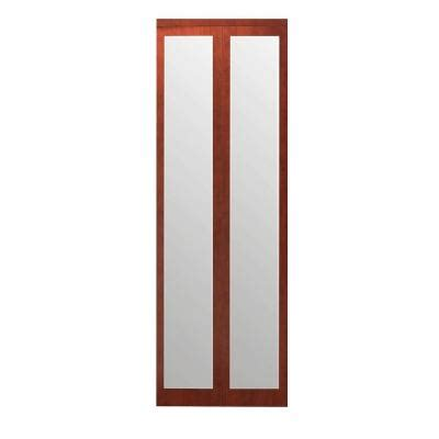 Bifold Closet Doors With Mirrors Impact Plus 36 In X 80 In Mir Mel Mirror Solid Cherry Mdf Interior Closet Bi Fold Door