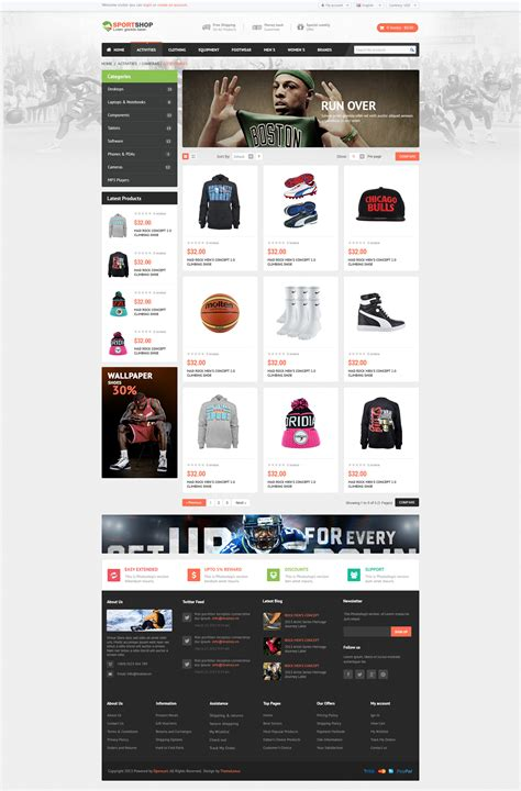 jekyll multiple layout sportstore multiple layouts opencart theme by pavothemes