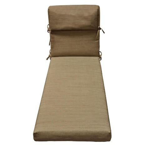 lowes chaise cushions shop allen roth natural wheat texture standard patio