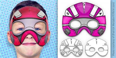 robot superhero mask printable  robot superhero